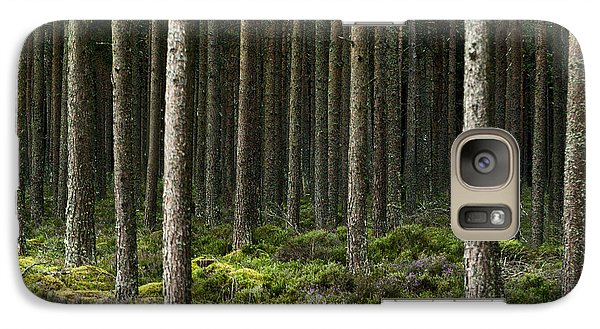 Galaxy Case featuring the photograph Camore Wood Scotland by Sally Ross