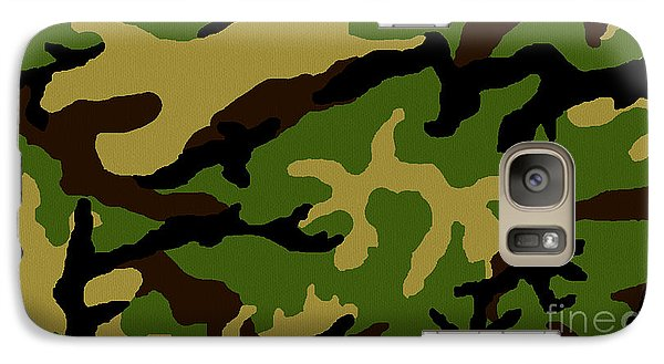 Galaxy Case featuring the painting Camouflage Military Tribute by Roz Abellera Art