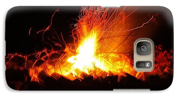 Galaxy Case featuring the photograph Camp Fire... by Al Fritz