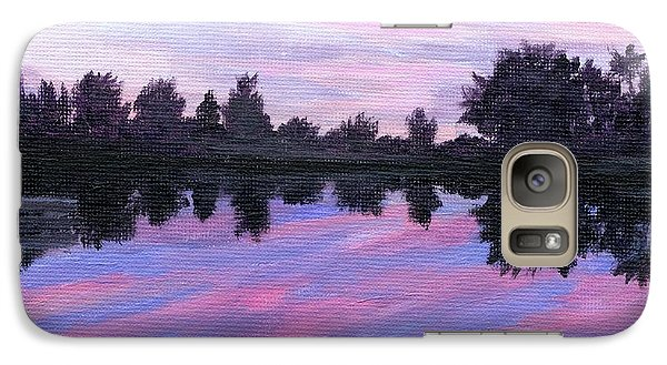 Galaxy Case featuring the painting Camp Sunset by Lynne Reichhart