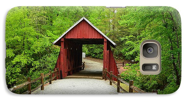 Galaxy Case featuring the photograph Campbells Covered Bridge by Bob Sample