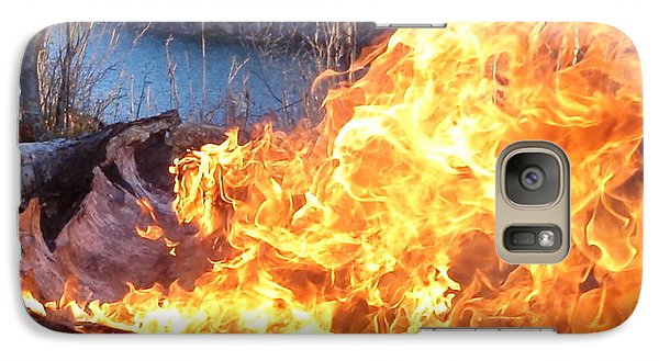 Galaxy Case featuring the photograph Campfire by James Peterson