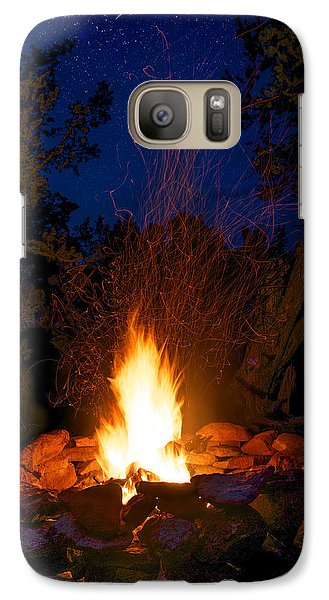 Campfire Under The Stars Galaxy S7 Case