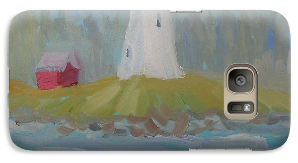 Galaxy Case featuring the painting Campobello Lighthouse by Francine Frank