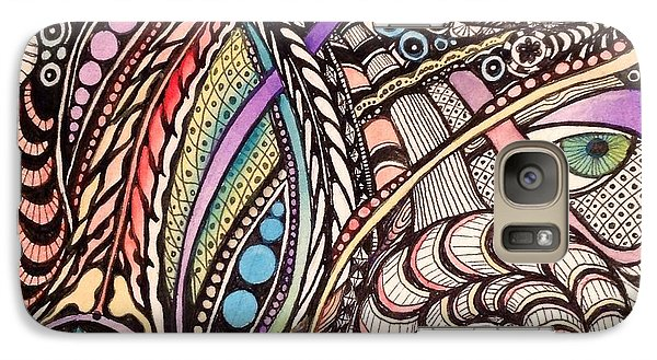 Galaxy Case featuring the drawing Can You See What I See by Iya Carson