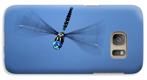 Galaxy Case featuring the photograph Canada Darner Dragonfly Flying by Peggy Collins