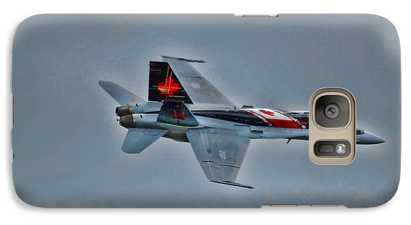 Galaxy Case featuring the photograph Canadian Cf18 Hornet Fly By by Cathy  Beharriell