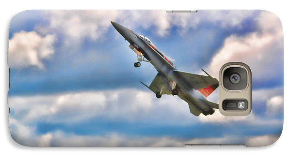 Galaxy Case featuring the photograph Canadian Cf18 Hornet Taking Flight  by Cathy  Beharriell