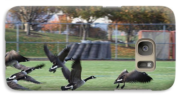 Galaxy Case featuring the photograph Canadian Geese Taking Flight by Robert Banach