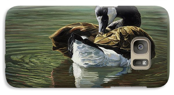 Canadian Goose Galaxy Case by Lucie Bilodeau