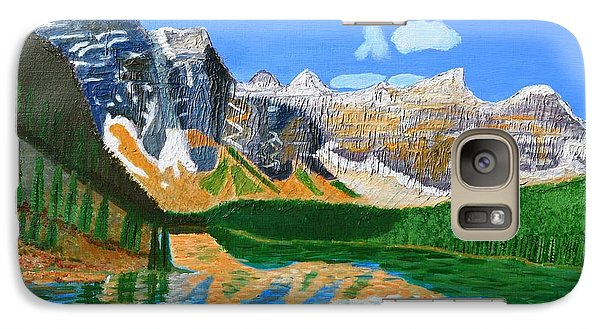 Galaxy Case featuring the painting Canadian Mountains And Lake  by Magdalena Frohnsdorff