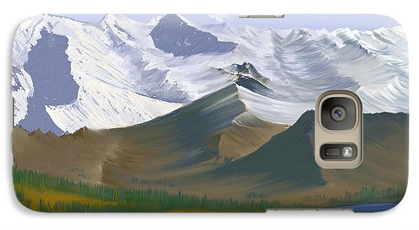Galaxy Case featuring the digital art Canadian Rockies by Terry Frederick