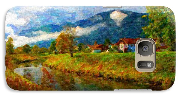 Galaxy Case featuring the digital art Canal 1 by Chuck Mountain