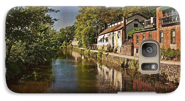 Galaxy Case featuring the photograph Canal Along The Porkyard by Debra Fedchin