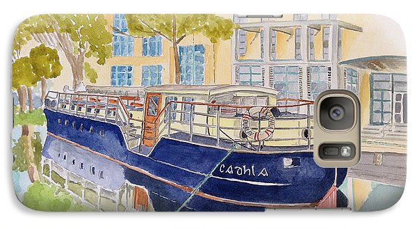 Galaxy Case featuring the painting Canal Boat by Eva Ason