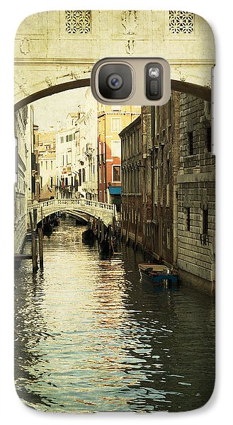 Galaxy Case featuring the photograph Canal In Venice by Ethiriel  Photography
