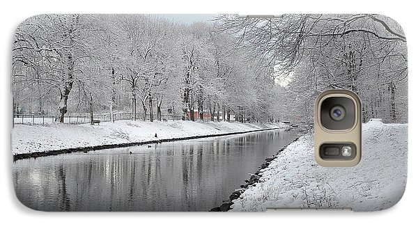 Galaxy Case featuring the photograph Canal In Winter by Randi Grace Nilsberg