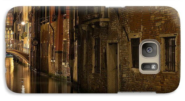 Galaxy Case featuring the photograph Canal Reflections by Marion Galt