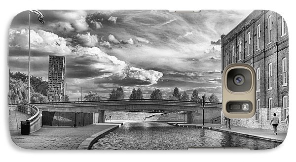 Galaxy Case featuring the photograph Canal Walk by Howard Salmon