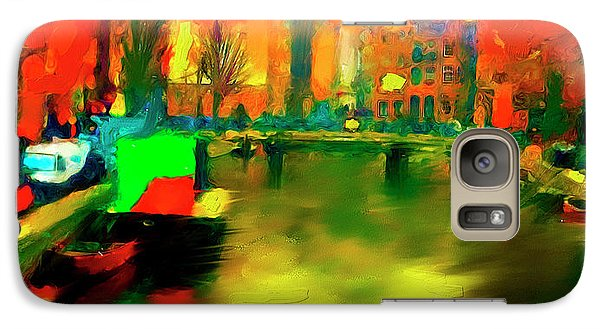 Galaxy Case featuring the painting Canals Of Amsterdam by Ted Azriel