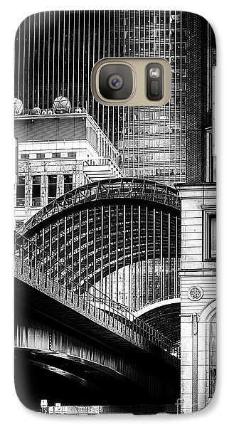 Galaxy Case featuring the photograph Canary Wharf Noir3 by Jack Torcello