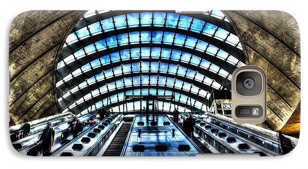 Canary Wharf Station Galaxy Case by David Pyatt