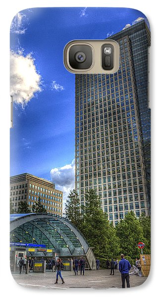 Canary Wharf Station London Galaxy S7 Case by David Pyatt