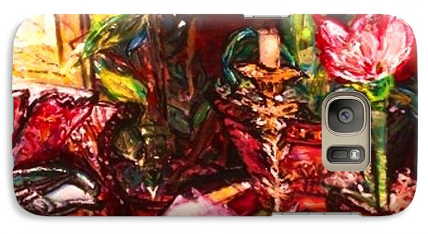 Galaxy Case featuring the painting Candela by Helena Bebirian