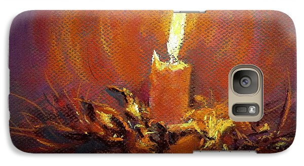 Galaxy Case featuring the painting Candlelight by Jieming Wang