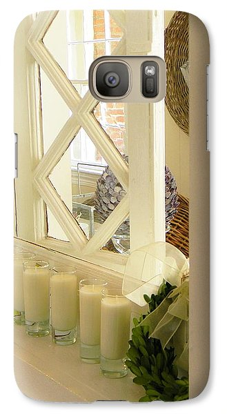 Galaxy Case featuring the photograph Candles And Wicker And Window by Jean Goodwin Brooks