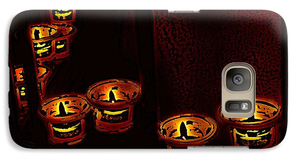 Galaxy Case featuring the digital art Candles For The Evening by Kathleen Stephens