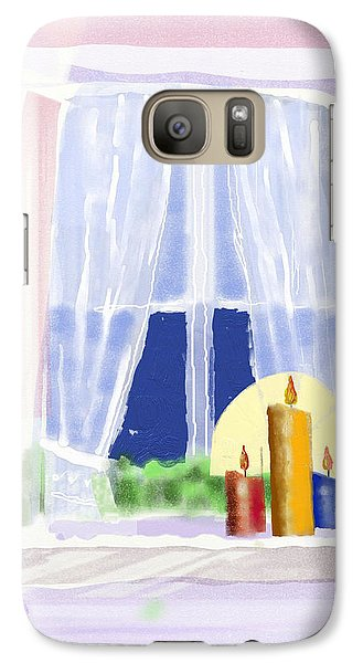 Galaxy Case featuring the digital art Candles In The Window by Arline Wagner
