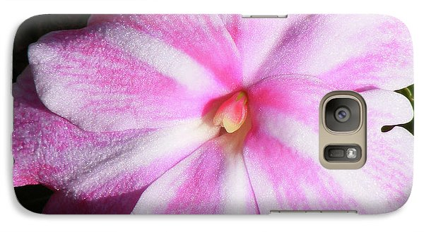 Galaxy Case featuring the photograph Candy Cane Impatiens by Barbara Griffin