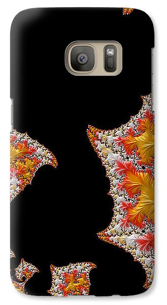 Galaxy Case featuring the digital art Candy Corn by Susan Maxwell Schmidt