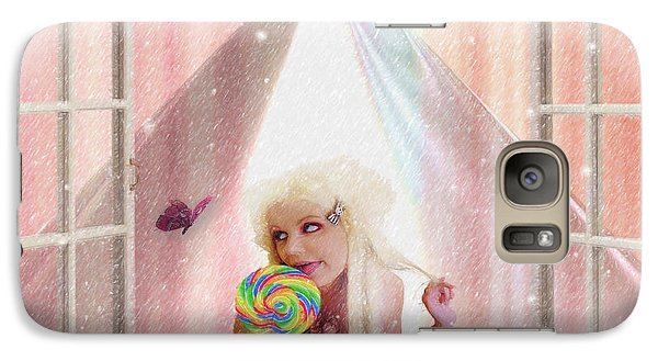 Galaxy Case featuring the digital art Candy Kisses by Liane Wright
