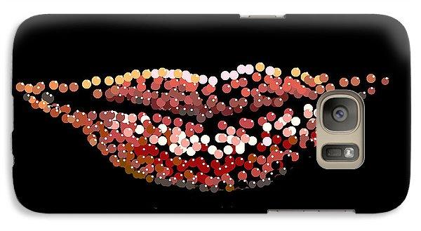 Galaxy Case featuring the digital art Candy Lips by R  Allen Swezey