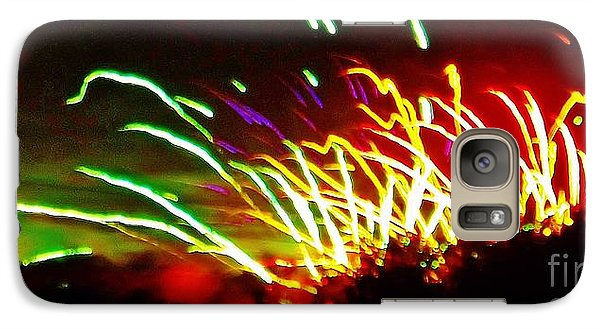 Galaxy Case featuring the photograph Candy Stripe Fireworks by Brigitte Emme