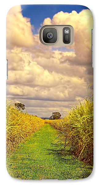 Galaxy Case featuring the photograph Cane Fields by Wallaroo Images
