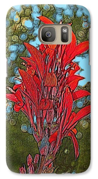 Galaxy Case featuring the digital art Canna Lily by Dennis Lundell