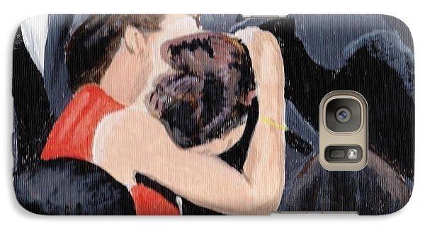 Galaxy Case featuring the painting Cannes by Audrey Pollitt