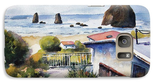 Galaxy Case featuring the painting Cannon Beach Cottage by Marti Green