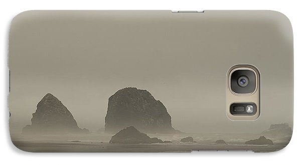Galaxy Case featuring the photograph Cannon Beach In A Fog Oregon by Yulia Kazansky