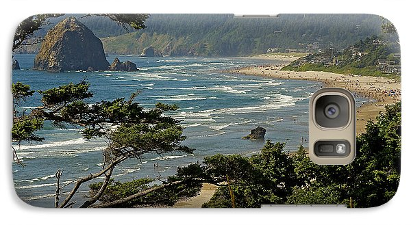 Galaxy Case featuring the photograph Cannon Beach Seascape by Nick  Boren