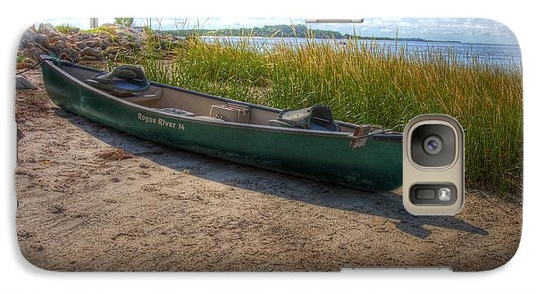 Galaxy Case featuring the photograph Canoe At Cedar Key by Donald Williams