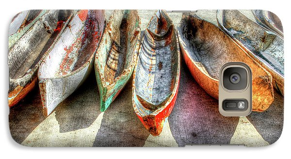 Canoes Galaxy S7 Case by Debra and Dave Vanderlaan