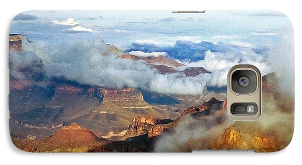 Galaxy Case featuring the photograph Canyon Clouds by Alan Socolik