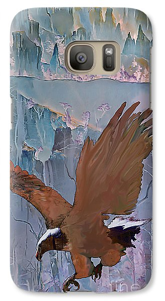 Galaxy Case featuring the digital art Canyon Flight by Ursula Freer