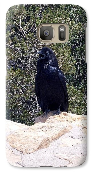 Galaxy Case featuring the photograph Canyon Raven by Philomena Zito