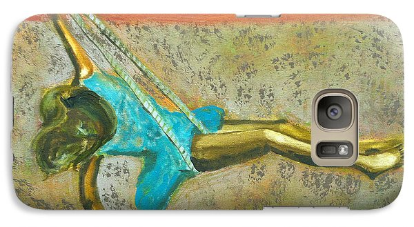 Galaxy Case featuring the painting Canyon Road Sculpture by Keith Thue