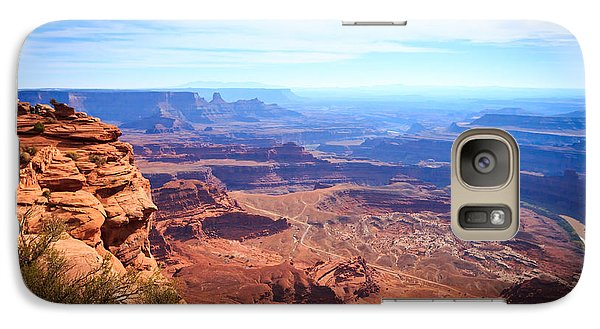 Galaxy Case featuring the photograph Canyonlands - A Landscape To Get Lost In by Peta Thames
